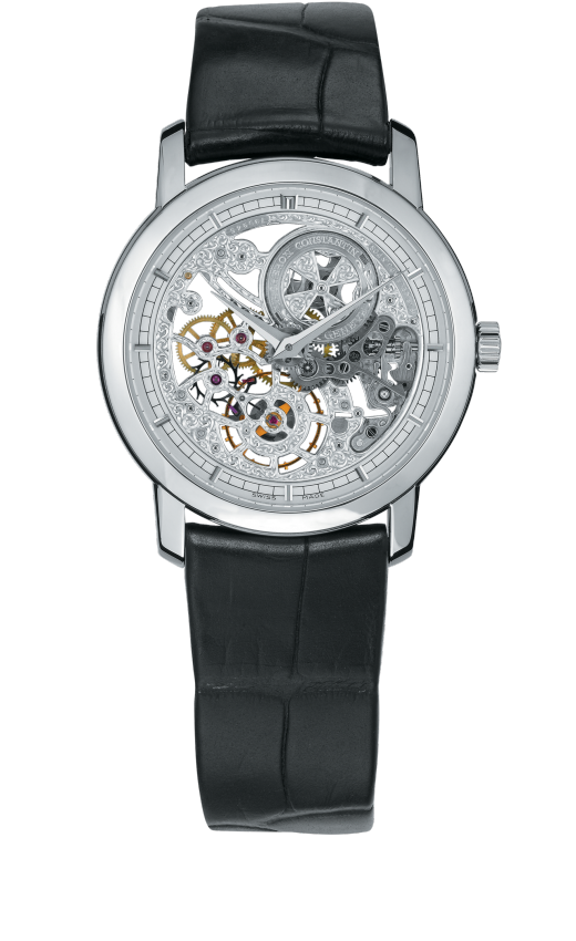 Traditionnelle manual-winding ultra-thin skeleton : 33158/000G-9394