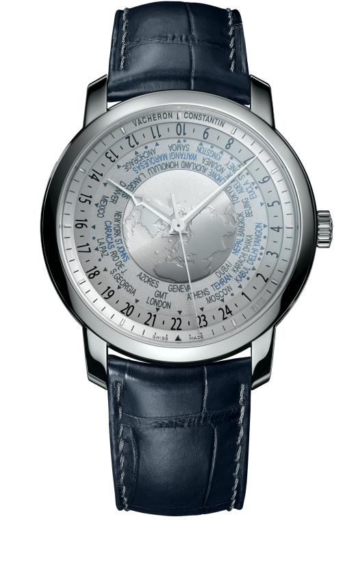 Traditionnelle world time - Collection Excellence Platine : 86060/000P-9979